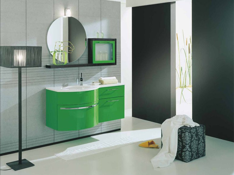 Rivestimento Bagno Verde Mela : Bagni moderni mosaico verde latest il bagno moderno con il